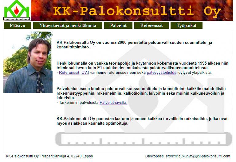 KK-Palokonsultti Oy - Historiamme